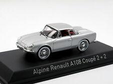 Norev 517821 - 1961 Alpine Renault A108 Coupé 2 + 2 silver, 1/43 NEU