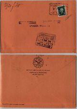 RSI-Marca da bollo 10c(21) usata per posta-Busta Istituti Ospitalieri 8.3.1945