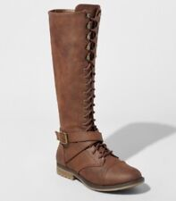 NEW Women's Magda Lace-Up Tall Boots - Mossimo Supply Co. Brown 7