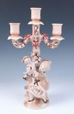 🟢Rare Conta & Boehme Mother & Child 3 Light Candelabra Figural German Porcelain