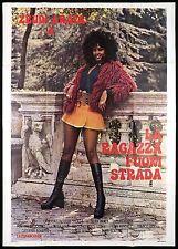 LA RAGAZZA FUORISTRADA MANIFESTO CINEMA ZEUDI ARAYA 1971 SEXY MOVIE POSTER 4F