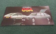 December 1979 / 1980 Model CITROEN GSA CLUB ESTATE PALLAS - UK MARKET BROCHURE
