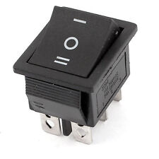 1pcs New AC 250V/15A 125V/20A 3 Positions 6 Pins DPDT Rocker switch 12V DC