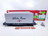 CQ842-3# LGB Spur G/IIm/DC 4085 US-Containerwagen White Pass/WP & YR, NEUW+OVP