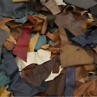 Upholstery Scrap Medium Cowhide Leather 1 Pound Remnants 3-4 oz Color Mix Crafts
