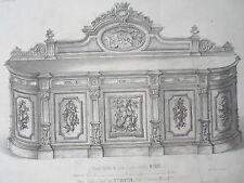 Grand Buffet de salle coins ronds GRAVURE le MAGASIN de MEUBLES V. QUETIN XIXéme