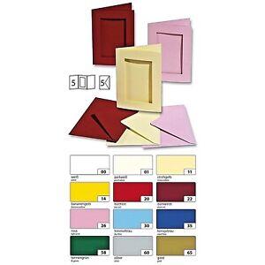 5 Folia Passepartoutkarten inkl. Umschläge,rechteckig, versch.Farben zur Auswahl