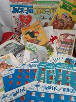 Ephemera Lot BINGO cards Children's illustrations Jack and Jill paper vintage