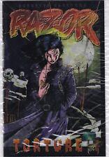 RAZOR TORTURE #0 NMINT+ 9.6 Chromium Wrap Around cover London Night Studios 1995