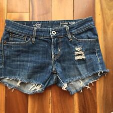 "Levi's eco Distressed Denim Cut Off Shorts, size 0 / 25"" Waist"