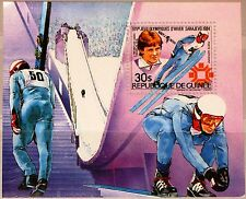 GUINEA 1984 Block 112 A S/S 910 Gold Medal Winner Winter Olympics Sarajevo MNH