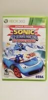 Sonic & All-Stars Racing Transformed - (Xbox 360, 2012) COMPLETE, TESTED