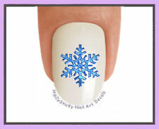 Nail Decals #809X CHRISTMAS Winter Snowflakes Blue WaterSlide Nail Art Transfers