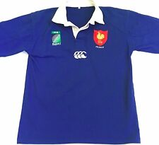 CCC Canterbury Men's Rugby IRB World Cup France Blue SS Polo Shirt Size Large L