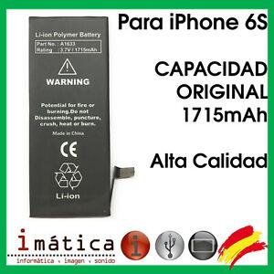BATERIA PARA APPLE IPHONE 6S A1633 1715 mAh 3.7V CAPACIDAD ORIGINAL 616-00033