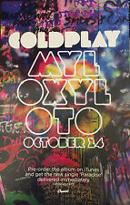 Coldplay - Mylo Xyloto promo poster NEW Graffiti style