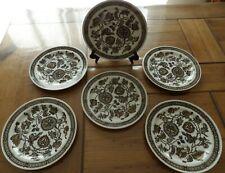 RIDGWAY Ironstone  modèle : JACOBEAN  Lot de 6 assiettes Dessert
