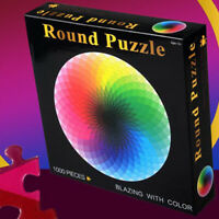 1000 pcs/set Colorful Rainbow Round Adult Kids DIY Educational Jigsaw Puzzle Toy