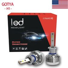 LED Headlight Bulbs H1 96W 9600lm High Power Light Effect Auto High Low Beam Kit