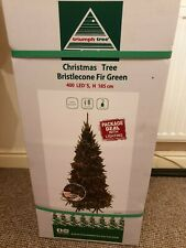 6ft Bristlecone Fir 'Real Feel' Christmas xmas Tree With 400 Led Lights Rrp £180