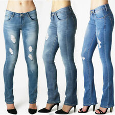Coloured Bootcut Low Rise Jeans for Women