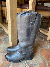 Fry Melissa Gray leather women boots Size 6,5