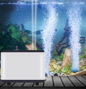 2 Air Bubble Stone & Air Pump 2 Outlets for Aquarium Fish Tank Hydroponic Pond