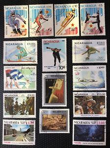 Nicaragua Stamps Precanceled Used