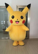 Adult Pikachu Mascot Costume birthday Party Pokemon Go Cosplay game Advertising