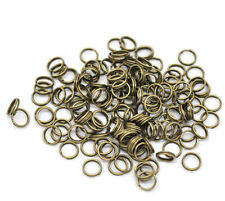 200-450pcs Silver/Golden/Copper/Gunmetal Metal Split Rings 4/5/6/8/10/12mm