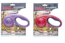 Halti Retractable Lead for Dogs - S - L - 4 colors One click lock Strong 1EACH