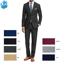 Men's Formal classic Fit 2 piece Suit two button solid color Jacket pants PR02