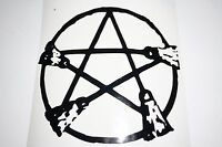 Bumper car Vinyl Sticker Motorbike decal window Bike vehicle pentagram Broom
