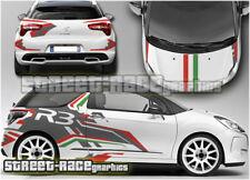 RALLY CITROEN DS3 002B R3 R5 BANDIERA ITALIANA COMPLETO grafica Adesivi Decalcomanie
