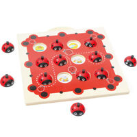 Wooden Ladybird Board Game Puzzle Toy Memory Training Chess Kid Educational