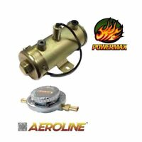 12v Powermax Electronic High Flow Fuel Pump and Flow Regulator for Classic Cars