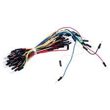 UK 65pcs PCB Male Solderless Breadboard flexible jumper cable wire kit test lead
