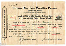 Share Scrip - Timber Milling. 1921 Victorian Blue Gum Sawmilling Co - P/L