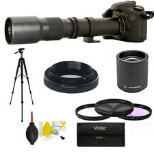 HD TELEPHOTO ZOOM LENS 500-1000MM FOR CANON EOS REBEL T1 T2 T3 T4 T5 T6 T2I T3I