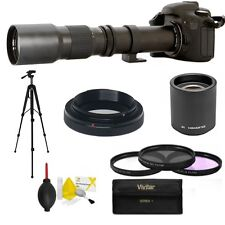 SPORTS ACTION TELEPHOTO ZOOM LENS 500-1000MM FOR NIKON D3100 + ACCESSORIES KIT