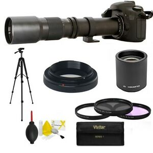 "HDK4 SPORTS TELEPHOTO ZOOM LENS 500-1000MM + 50"" TRIPOD  FOR CANON EOS REBEL T7I"