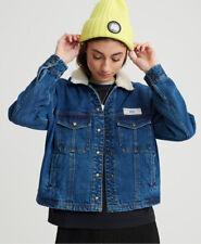 Superdry Womens Denim Borg Trucker Jacket