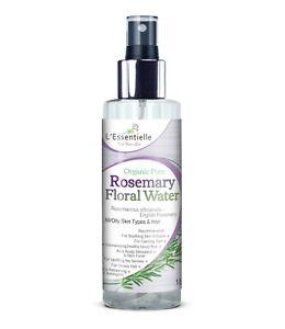 Organic 100% Rosemary Floral Water 150ml Oily Skin Glossy Hair Scalp Glass Bottl