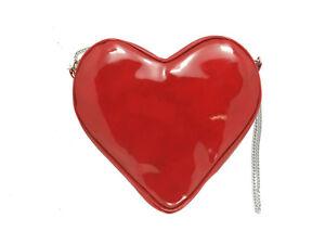 LONI Heart Shape Valentine Patent Clutch Shoulder Crossbody Bag
