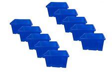 stabile Dreh Stapelbox 27l Aufbewahrungsbox Lagerbox blau