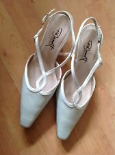Lovely Ladies Size 4.5/37.5 Creamy Green Small Heel Shoes, New Shop Clearance