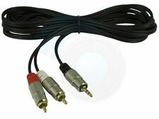 3.5mm Male Plug to 2 RCA Male Stereo Audio AV Cable Adapter 10FT (3M)