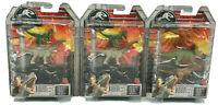 Mattel Jurassic World Fallen Kingdom Action Dinos 3Pack *Lot Of 3 Packs*