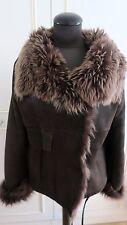 Joseph sheepskin shearling brown jacket Toscana lambskin fur coat M UK12EU40US10