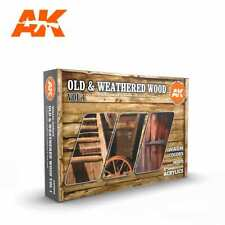 """AK-interactive AK11673 - Farben-Set """"Old and weathered wood Vol. 1"""""""